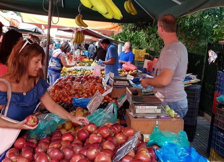 Food Around Athens fruit market
